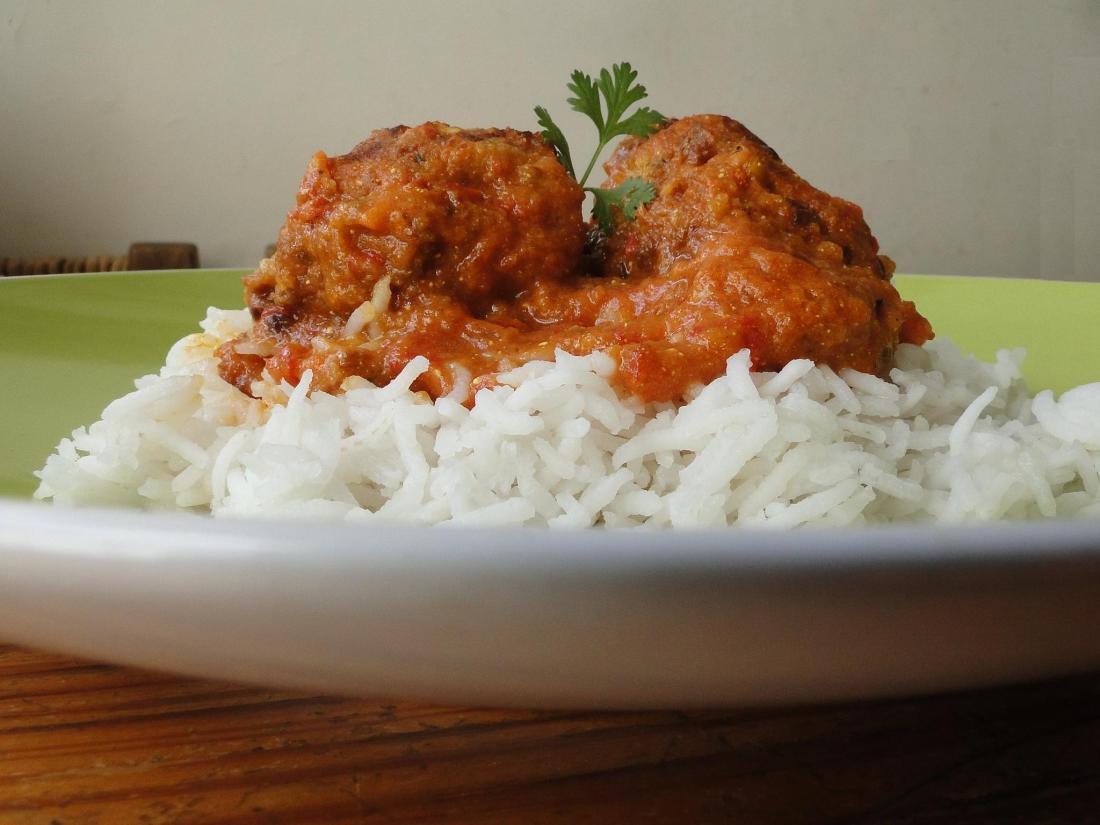 Koftas Manjula y arroz al vapor 2