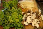 verduras cortadas udon
