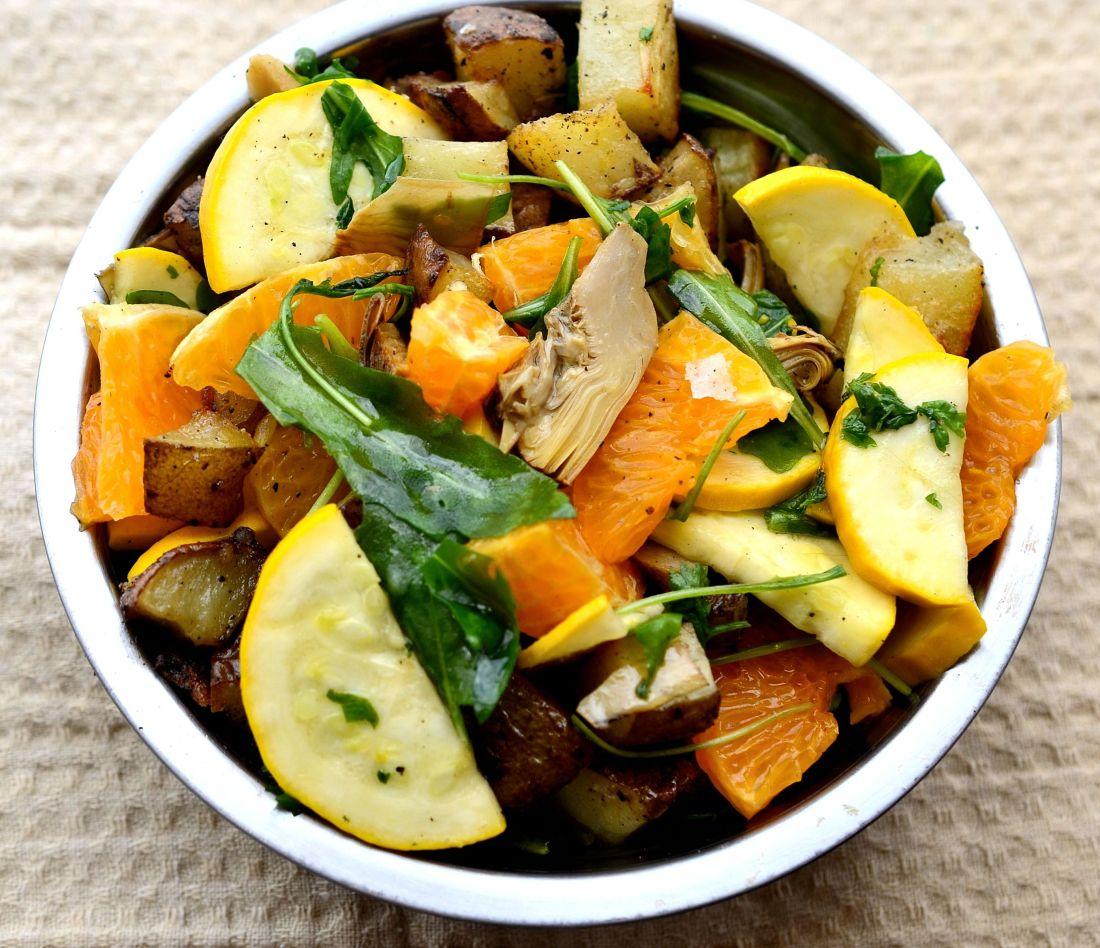ensalada papas mandarinas