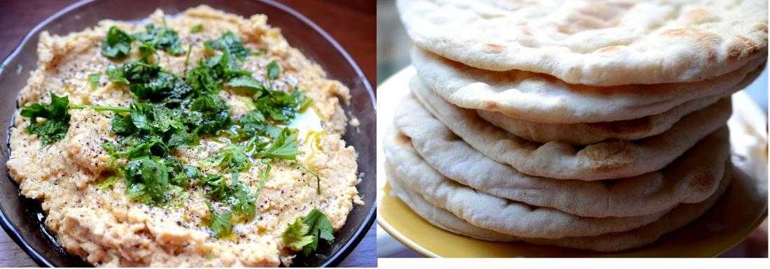 pan arabe y hummus