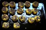 cocinando falafel batatas
