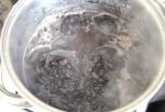 cocinando porotos para tacos