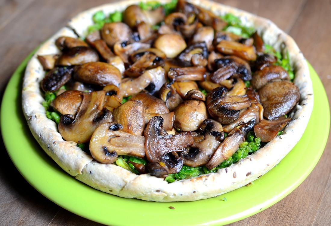 tarta arvejas y champignones